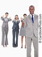 ビジネス チーム, 微笑, ∥で∥, 「オーケー」