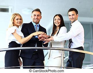 ビジネス チーム, 提示, 統一