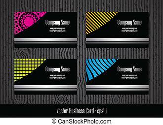 ビジネス, デザイン, カード, テンプレート, 流行, 特別