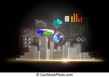 ビジネス, データ, 背景