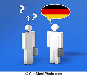 ビジネス, ドイツ語, チャット