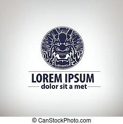 ビジネス, ドラゴン, label., ロゴ, あなたの, templat