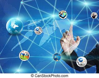 ビジネス, ネットワーク, デザイン