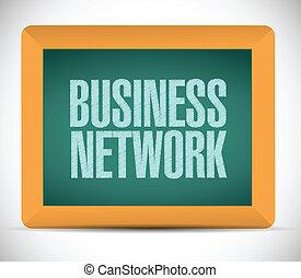 ビジネス, ネットワーク, メッセージ, 印。, イラスト