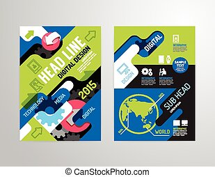 ビジネス, フライヤ, 小冊子, 産業, 年報, カバー, ポスター, 雑誌, ベクトル, デザイン, パンフレット, template.layout, レポート, size., 特性, a4