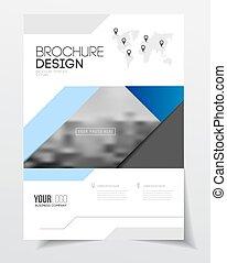 ビジネス, フライヤ, 抽象的, ベクトル, デザイン, a4, テンプレート, 大きさ