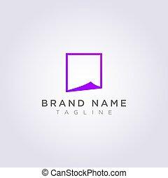 ビジネス, ブランド, 折られる, あなたの, ペーパー, デザイン, ロゴ, ∥あるいは∥