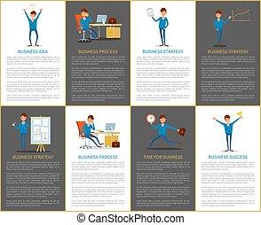 ビジネス, プロセス, 考え, 作戦, 仕事, 計画