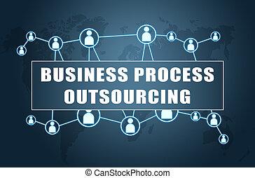 ビジネス, プロセス, outsourcing