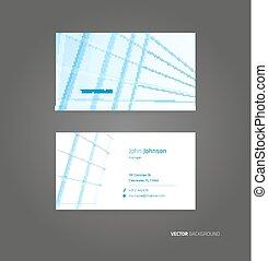 ビジネス, ベクトル, カード, 背景