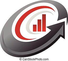 ビジネス, ベクトル, デザイン, テンプレート, ロゴ, 投資