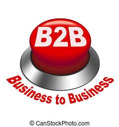 ビジネス, ), (, ボタン, イラスト, b2b, 3d