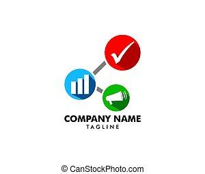 ビジネス, マーケティング, イラスト, ベクトル, ロゴ, アイコン