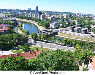 ビジネス, リスアニア, 風景, 都市, vilnius