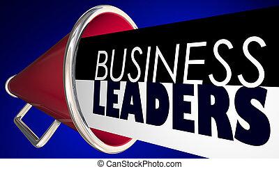 ビジネス, リーダー, メガホン, bullhorn, 言葉, 3d, イラスト