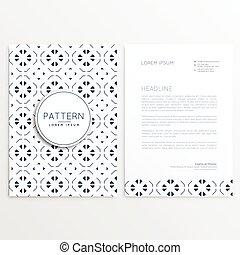 ビジネス, リーフレット, デザイン, ∥で∥, 抽象的, パターン
