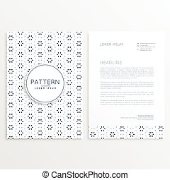 ビジネス, レターヘッド, デザイン, ∥で∥, 抽象的, パターン