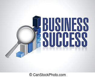 ビジネス, レビュー, 成功, イラスト, 下に