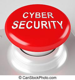 ビジネス, レンダリング, システム, 予防措置, cyber, セキュリティー, 3d