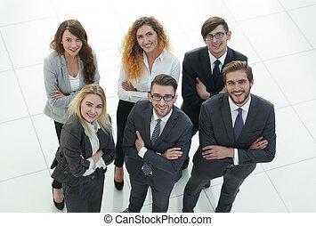 ビジネス, 上に, 背景, 人々。, グループ, 白