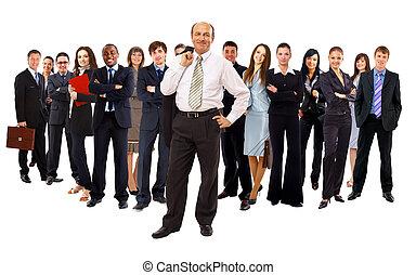 ビジネス, 上に, 背景, 隔離された, 人々。, グループ, 白