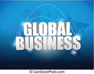ビジネス, 世界的である, 世界地図, 概念