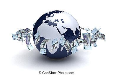 ビジネス, 世界的な通貨, アラビア人, riyals, サウジアラビア人