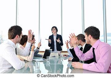 ビジネス 人々, ∥において∥, ミーティング