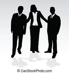 ビジネス 人々, -, イラスト, ベクトル, 概念