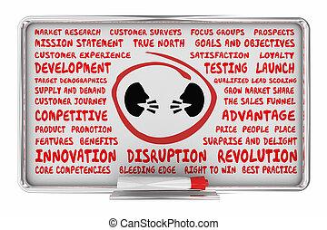 ビジネス 人々, コミュニケーション, 議論, 2, イラスト, 考え, 話し, 計画, 板, 顔, 3d