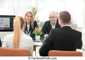 ビジネス 人々, チームチームワーク, 協力, そして, 協力, concep