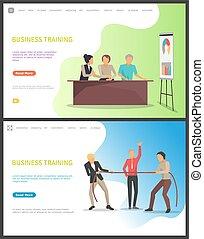 ビジネス 人々, トリック, 勉強, 新しい, 訓練