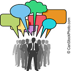 ビジネス 人々, ネットワーク, カラフルである, 話, 泡