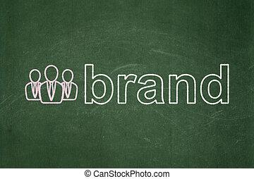 ビジネス 人々, マーケティング, ブランド, 黒板, 背景, concept: