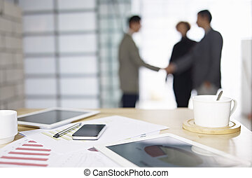 ビジネス 人々, ミーティング, 中に, オフィス