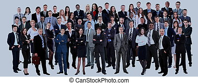 ビジネス 人々, 上に, group., 隔離された, 背景, 白