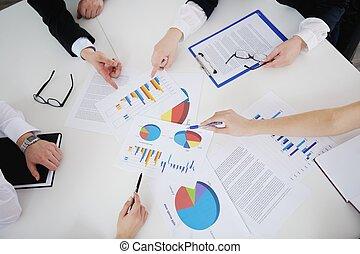 ビジネス 人々, 中に, a, ミーティング, ∥において∥, オフィス
