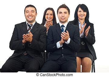 ビジネス 人々, 叩くこと, ∥において∥, 会議