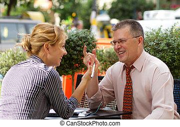 ビジネス 人々, 持つこと, a, ビジネス 昼食