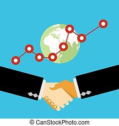 ビジネス 人々, 揺れている手, 手, 取引, 振動