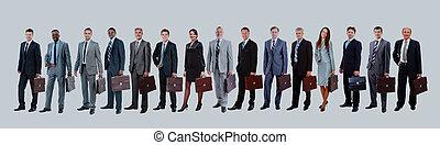 ビジネス 人々, -, 若い, team., 魅力的, エリート