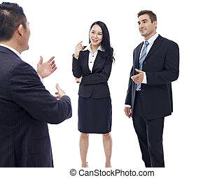 ビジネス 人々, 談笑する