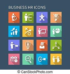 ビジネス, 人的資源, アイコン