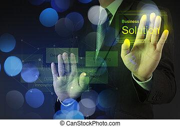 ビジネス, 仕事, ∥ディ∥, ダブル, 解決, ビジネスマン, さらされること