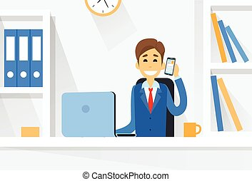 ビジネス, 仕事, モデル, ラップトップ・コンピュータ, 机, 人