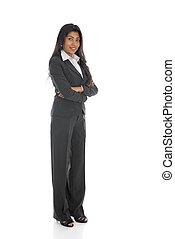 ビジネス, 体, アメリカ人, 隔離された, 女性, フルである, アフリカ, 微笑, 白