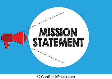 ビジネス, 写真, 提示, 代表団, 目標, 執筆, メモ, 価値, showcasing, statement., サマリー, 会社, 形式的