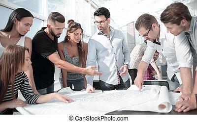 ビジネス, 創造的, プロジェクト, チーム, 新しい, 論じる