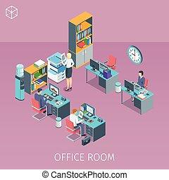 ビジネス, 労働者のオフィス, 人々