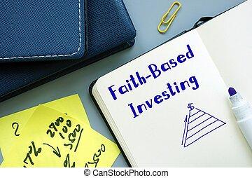 ビジネス 印, 投資, 概念, faith-based, について, sheet.